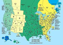 310 area code of us international area code map for the us and canada