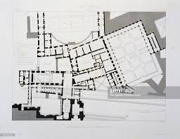 overview plan of main floor of vatican palace engraving from