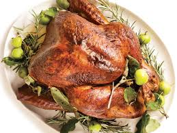 whole cooked turkey roasted turkey rosemary garlic butter rub pan gravy recipe