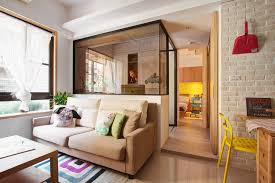 Home Interior Accents Minuet Neutral Functional Small Apartment With Cheerful Notes
