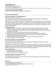 F B Manager Resume Sample Free Guest Service Manager Resume Example Throughout Service