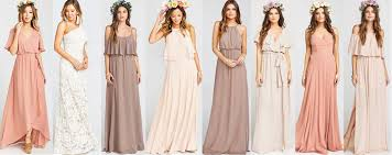 bridesmaid dress shops where to shop for mix and match bridesmaids dresses online