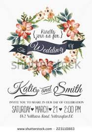 wedding invitations vector wreaths flower stock photos images pictures