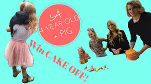 4 year old miniature pig cake war with jojo siwa everleigh