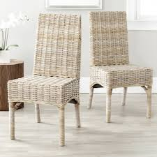 woven dining room chairs home design surprising wicker kitchen sets woven seagrass side