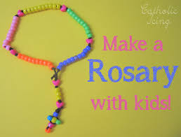 rosary for how to make a rosary with kids