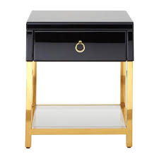 black and gold side table kent black and gold side table zurleys