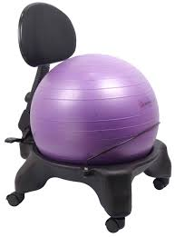 exercise ball office chair 52cm ball adjustable back