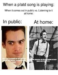 Emo Band Memes - wish p atd would ever come in public bands pinterest discos