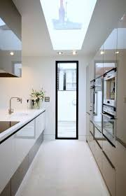modern galley kitchen photos modern galley kitchen with skylight make a galley kitchen seem