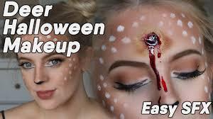 cute and creepy deer makeup hannah louise youtube