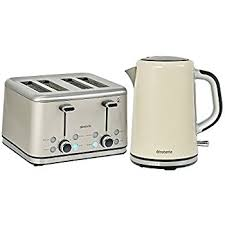 Grey Kettle And Toaster Breville Strata Kettle 1 7 L Grey And 4 Slice Toaster Grey