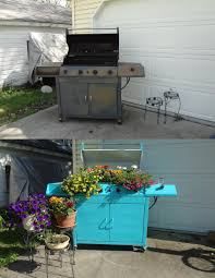 Buy A Planter Spray Paint An Old Barbeque Red And Turn It Into A Planter