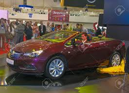 opel cascada 2013 kiev ukraine may 29 presenter present new vinous german car