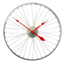 bicycle wheel clock tread u0026 pedals gifts for cyclists