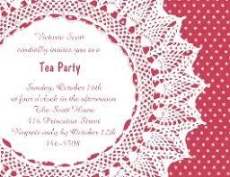 tea party invitations for children