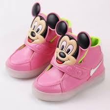 minnie mouse light up shoes 2017 kids light up hello kitty shoes boys glowing sneakers girls