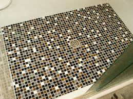 glamorous black and brown color scheme cork mosaic flooring for