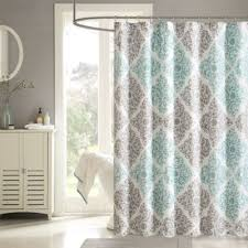 Shower Curtains Bed Bath And Beyond Buy Aqua Fabric Shower Curtains From Bed Bath U0026 Beyond