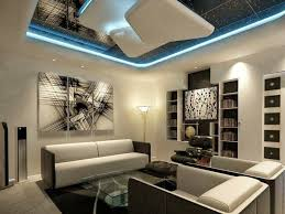 futuristic living room modern ceiling design with led mounted l for futuristic living