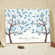alternatives to wedding guest book custom name signature guestbook tree fingerprint wood frame