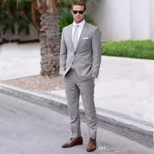 mens wedding 2017 gray mens wedding suits two notched lapel mens fashion