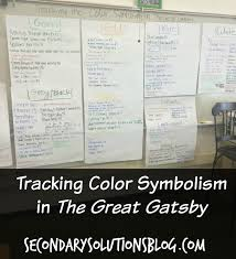 Color Symbolism by Tracking Color Symbolism In The Great Gatsby Teaching Literature