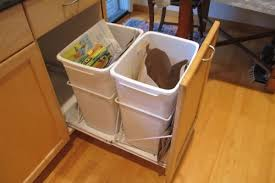 garbage can under the sink pull out garbage can under sink astonishing surprising built in