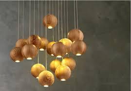 Japanese Chandeliers Aliexpress Buy Modern Wooden L Wood Chandelier Led