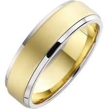 mens wedding rings uk mixed metal mens ring in 18ct yellow white gold pdwg014yw