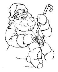 christmas stocking coloring pages santa claus holding a candy cane and christmas stocking on