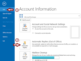 how to use the out of office assistant in outlook