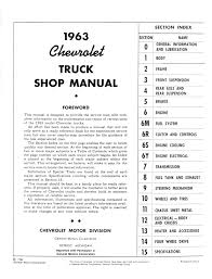 1964 1965 1966 chevrolet pickup truck u0026 van service manuals