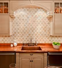tumbled marble backsplash kitchen traditional with artisan tile