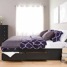 bed frame support system amazon com black king mate u0027s platform storage bed with 6 drawers
