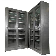 glass doors cabinets single industrial metal cabinet w sliding glass doors sliding