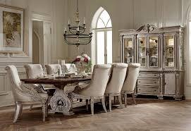homelegance orleans ii trestle dining set white wash weathered