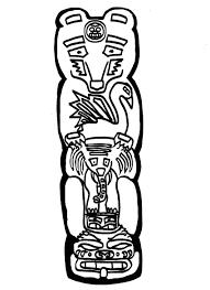 bear totem pole drawing