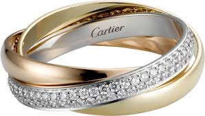 cartier rings jewelry images Crb4086000 trinity ring small model white gold yellow gold png