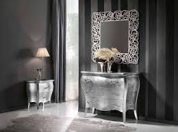 comodini foglia argento af289 commode et table de chevet en feuille d argent miroir