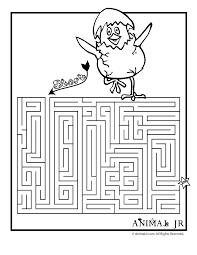 printable spring maze animal jr