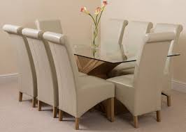 Extending Glass Dining Table And 8 Chairs Oak Dining Table 8 Chairs Dining Rooms