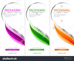package template box design vector illustration stock vector