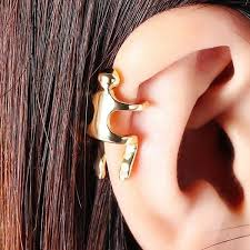 ear cuff 2018 1pc figure ear cuff golden in earrings online store