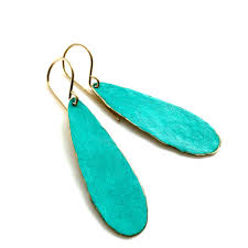 turquoise drop earrings patina turquoise drop earrings made