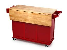 red kitchen cart island rolling wood top kitchen cart red