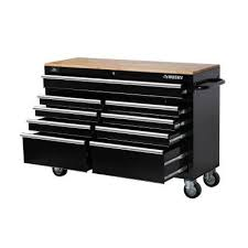 husky 27 in 8 drawer tool chest and cabinet set husky 52 in w 9 drawer mobile with 5 in x 2 in casters work bench