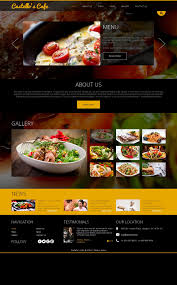 Kitchen Website Design by Website Template 49096 Cafe Restaurant Food Custom Website