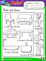 place prepositions worksheet 3 b u0026w version ingl pinterest