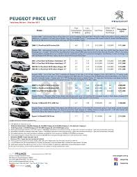 peugeot singapore peugeot singapore printed car price list oneshift com